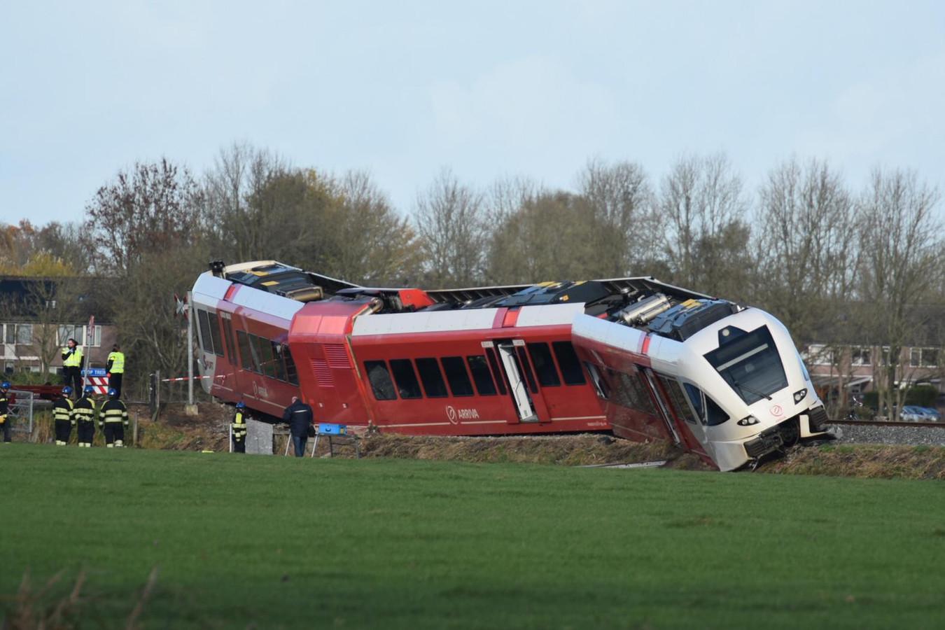 De ontspoorde trein bij Winsum