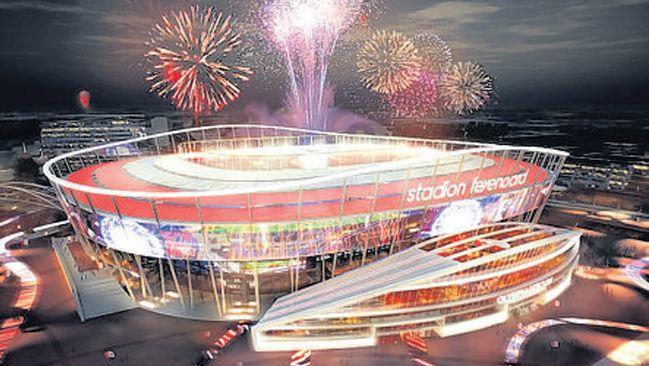 Het BAM-stadion, een van de twee kanshebbers.