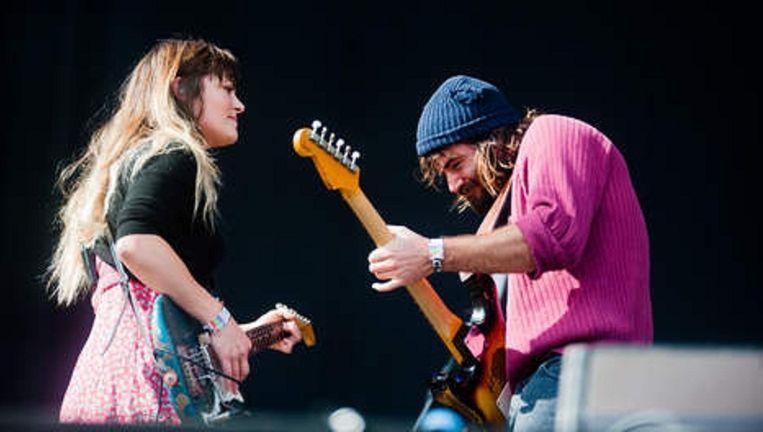 Julia Stone en Angus Stone tijdens hun optreden op Best Kept Secret, afgelopen weekend in Hilvarenbeek. Beeld Getty Images