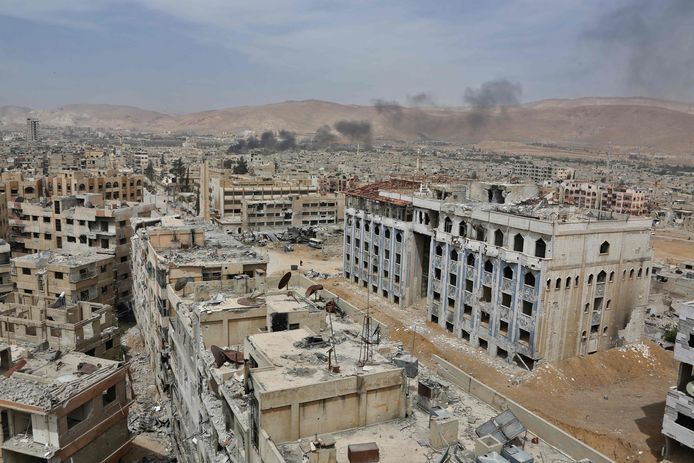 Douma, een voorstad van de Syrische hoofdstad Damascus, op archiefbeeld