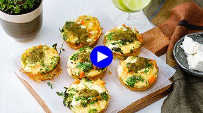 Lunchbox te saai? Deze snelle muffins met groenten en feta zijn origineel én gezond