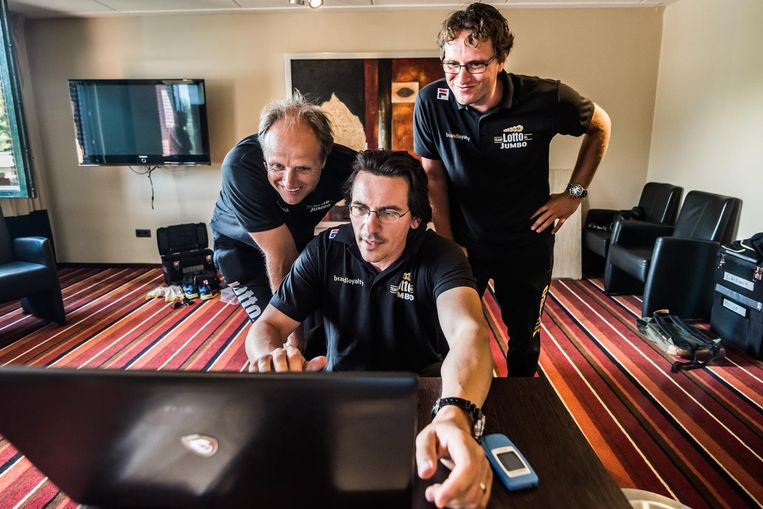Het team dat de tests uitvoert. Jac Orie, Nico Hofman (zittend) en Bjarne Rykkje (staand). Beeld RV