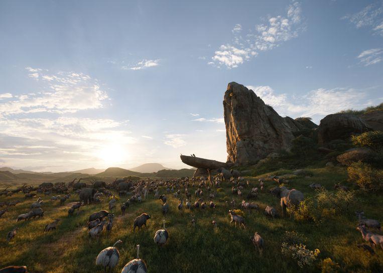 Pride Rock in de nieuwe 'The Lion King'. Beeld RV