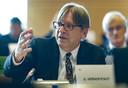Guy Verhofstadt au Parlement européen à Bruxelles, le 25 septembre 2019.