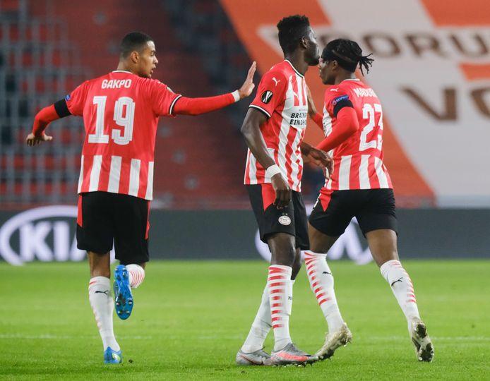 Cody Gakpo bracht PSV na een dramatische start terug in de wedstrijd.