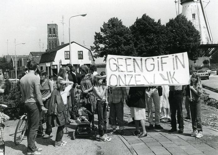 Wijkbewoners lieten in 1980 met protestacties zien al bezorgd te zijn. 41 jaar later herhaalt de geschiedenis zich.