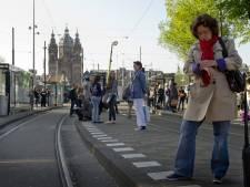 Trams in Amsterdam rijden weer