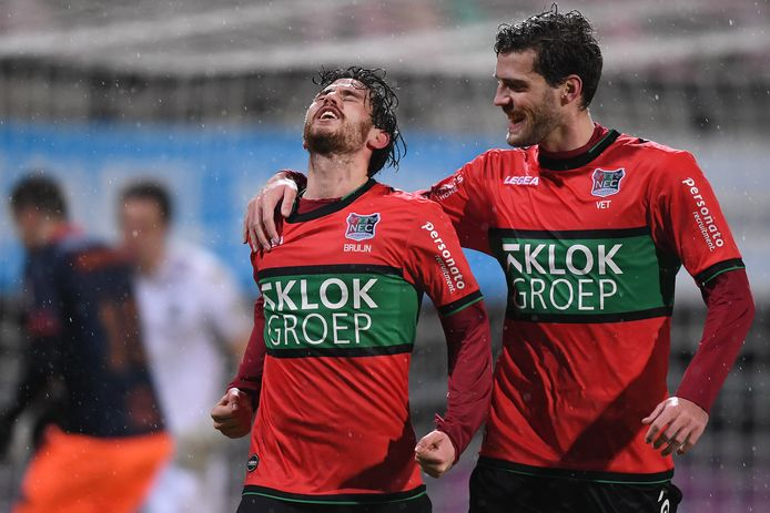 NEC schakelde in de vorige ronde Fortuna Sittard uit mede door een treffer van Jordy Bruijn (links).