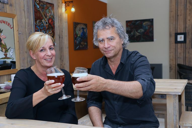 Inge Kerckhofs en Frank Mannaerts van Brouwerij De Schieve