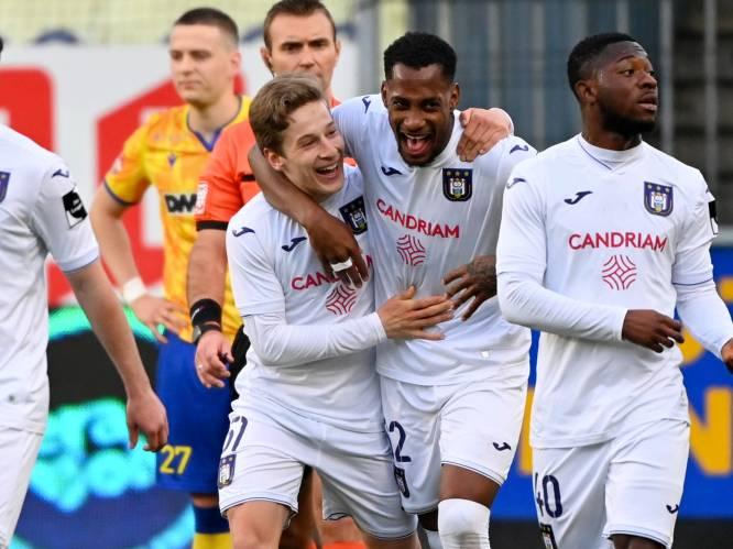 Anderlecht gaat als derde Champions' play-offs in na nipte zege tegen STVV, Verschaeren beslist match