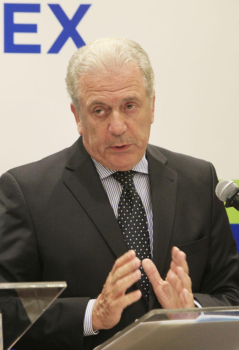 Europees Commissaris van Migratie Avramopoulos. Beeld AP