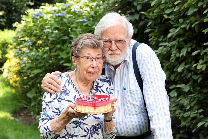 Annie Geeraerts en haar partner Paul.