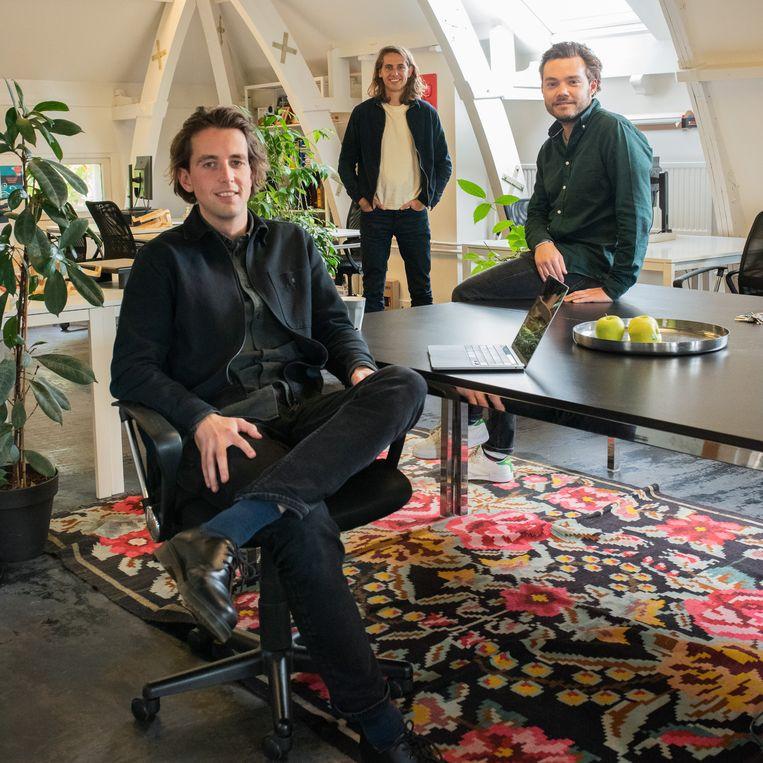 De directie van Pacmed, van links af: Willem Herter, Wouter Kroese en Hidde Hovenkamp. Beeld Sabine van Wechem