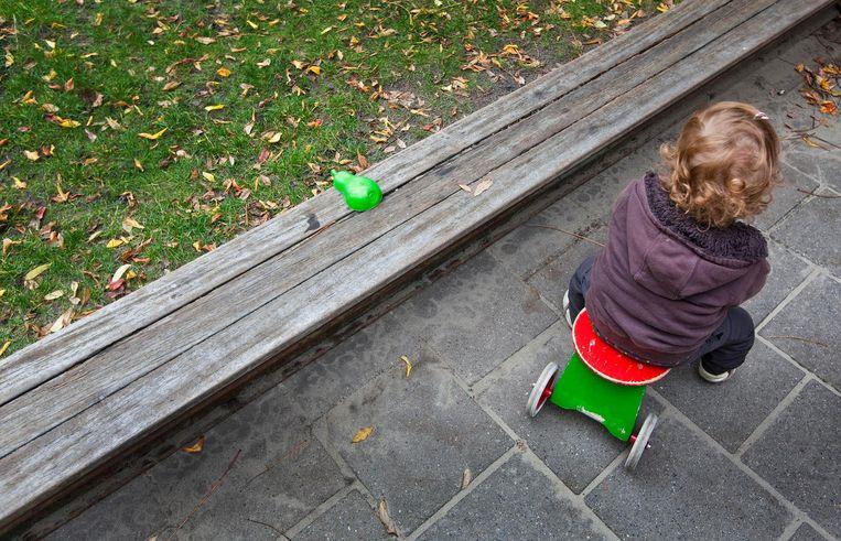Buitenspelen bij een kinderdagverblijf. Beeld ANP
