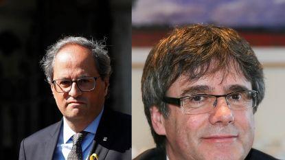 Premier van Catalonië op bezoek bij Puigdemont in Waterloo