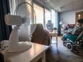 Mobiele airco's en ventilatoren staan paraat in verpleeghuizen