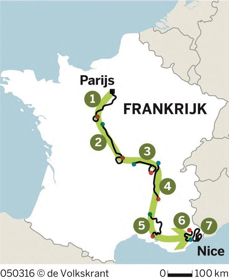 Route Parijs-Nice Beeld