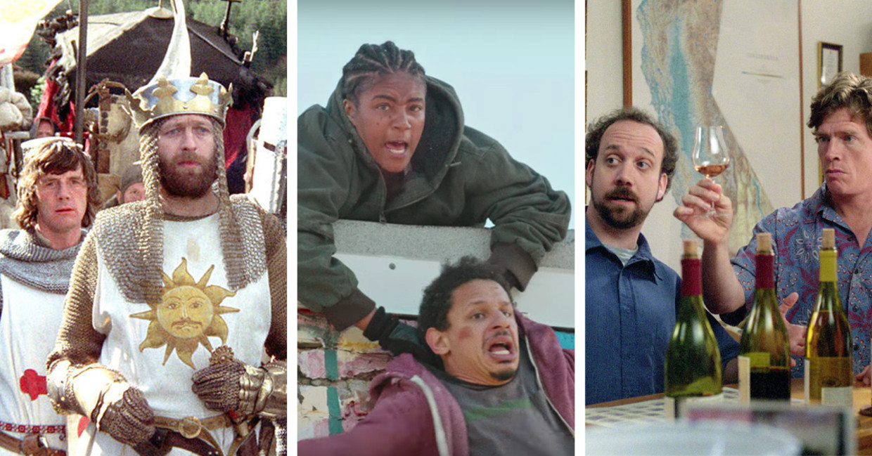'Monthy Python and the Holy Grail', 'Bad Trip', 'Sideways' Beeld Humo