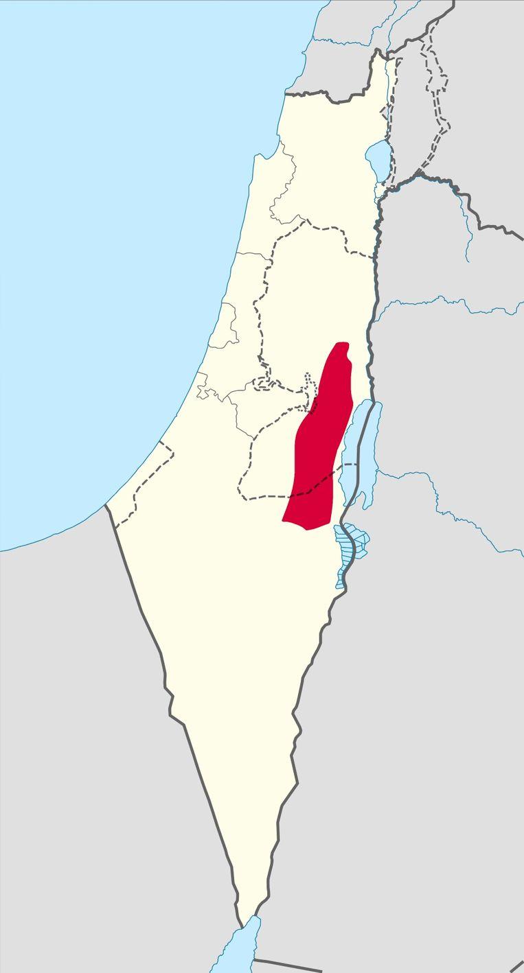 De woestijn van Judea. Beeld Google Maps