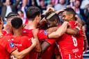 PSV domineerde de hele wedstrijd tegen het gemankeerde FC Midtjylland en moet volgende week de klus definitief klaren.