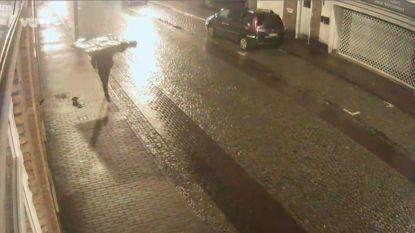 Eerste beelden van dief die met loodzware 'Michelangelo' op zijn rug door straten loopt