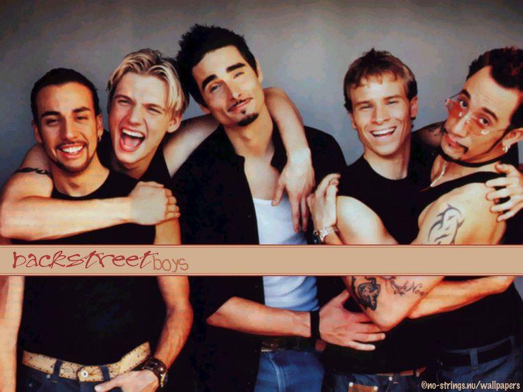 Beeld van de Backstreet Boys.  Beeld rv