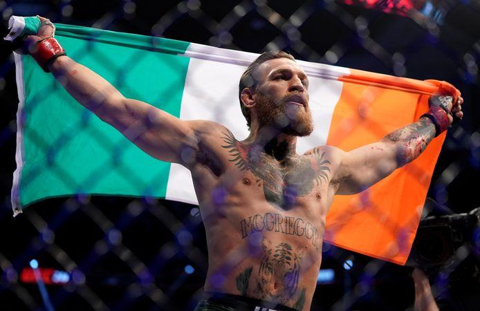 McGregor na zijn overwinning op Cerrone.