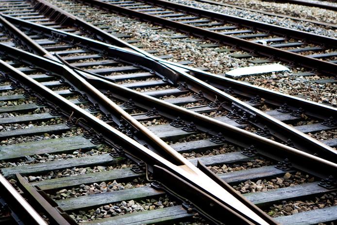 Treinspoor, foto ter illustratie