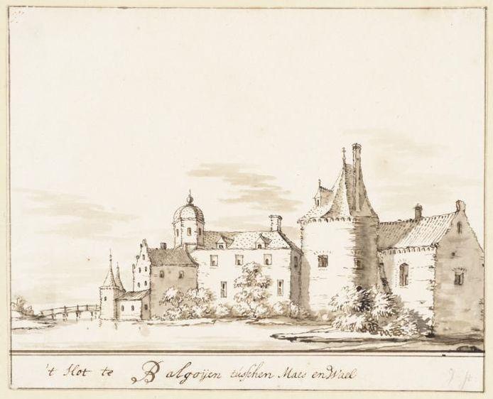 De tekening van Jacobus Stellingwerf illustreert de kritiek van Bert Kolkman: te krap bemeten aan de rechterkant en extreem veel lucht.