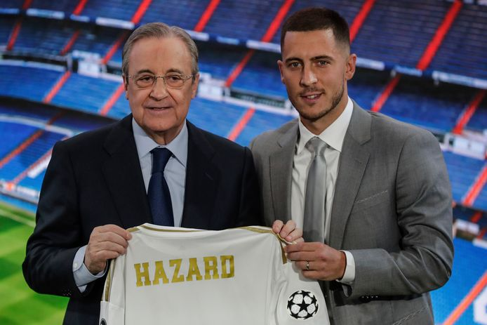 Florentino Perez en Eden Hazard.