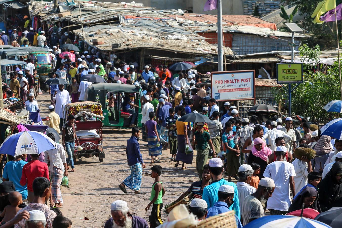 Rohingya-vluchtelingen in het kamp Kutupalong.