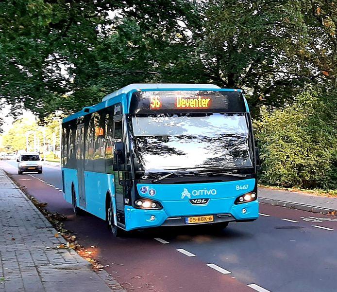 Buslijn 56 van Arriva tussen Borculo en Deventer wordt in december opgeheven