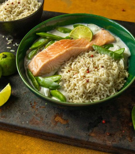 Wat Eten We Vandaag: Zalm in limoen-kokossaus