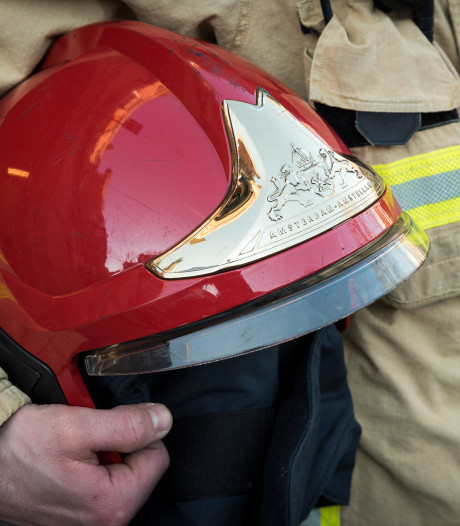Brandweer rukt uit voor brandende haardroger