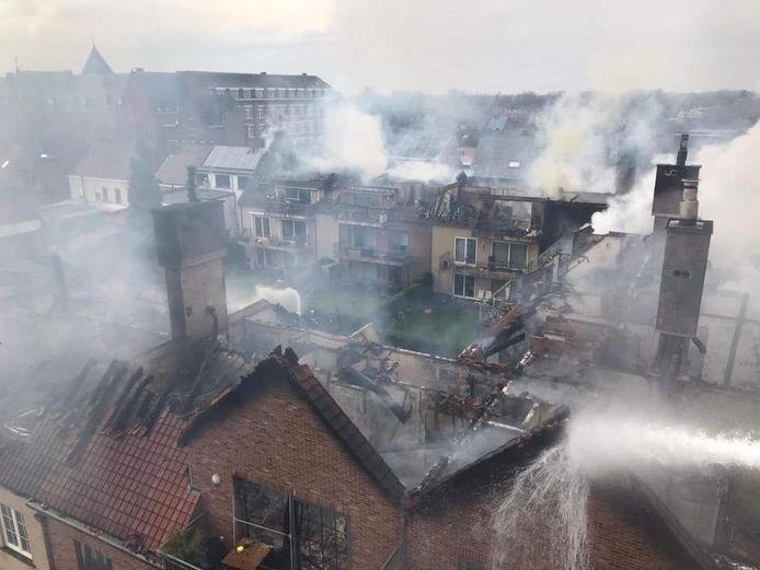 Brand in Opwijk