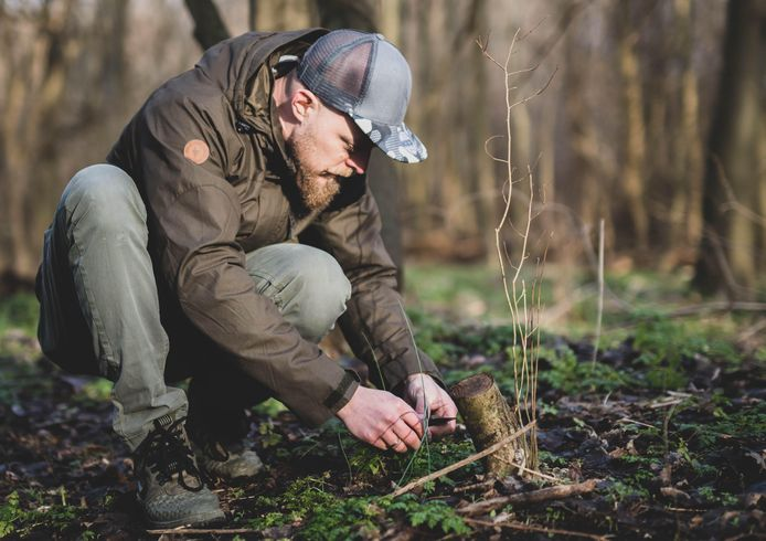 Dennis Willems stuit tijdens het wildplukken op een bosje kraailook.