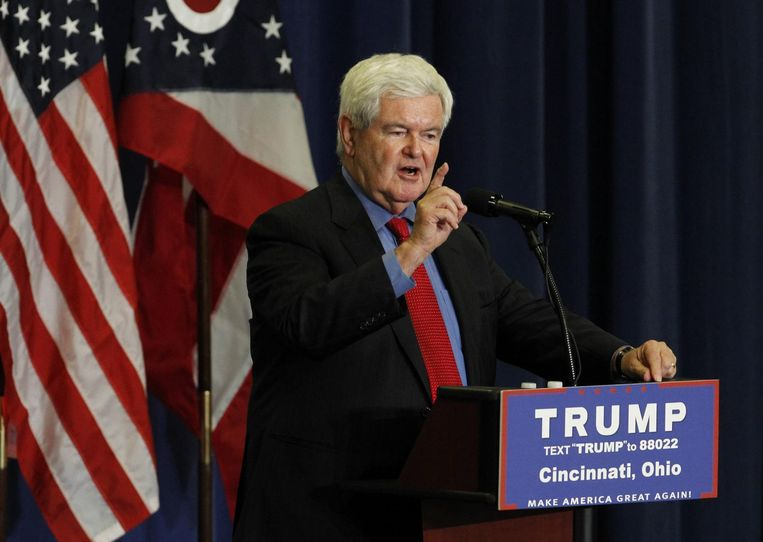 Newt Gingrich wordt getipt als minister van Buitenlandse Zaken. Beeld afp