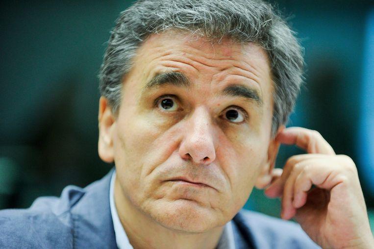 Grieks minister van Financiën Tsakalotos. Beeld EPA
