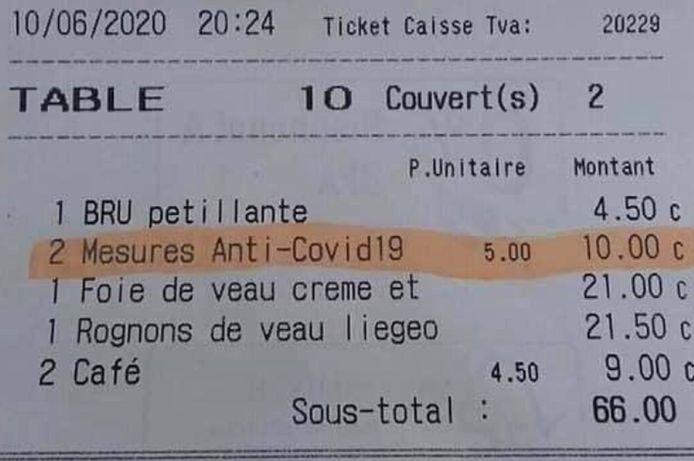 Le ticket a été diffusé sur les réseaux sociaux.