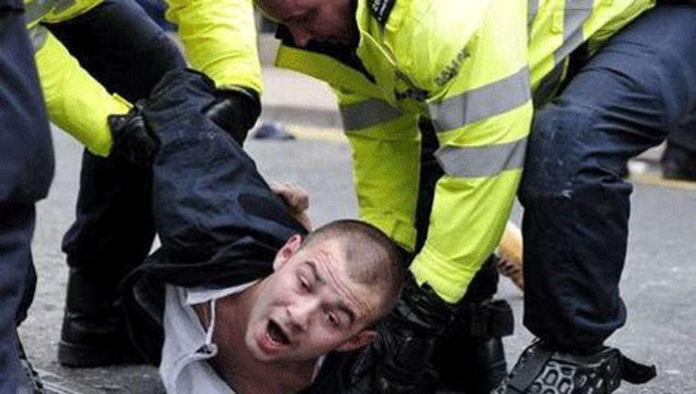 Demonstraties van de English Defence League liepen eerder deze maand in Engeland uit de hand. © afp Beeld