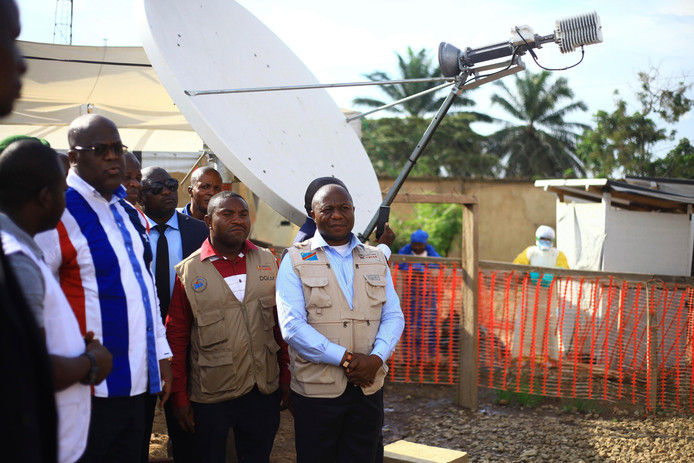 De Congolese president Felix Tshisekedi (links).