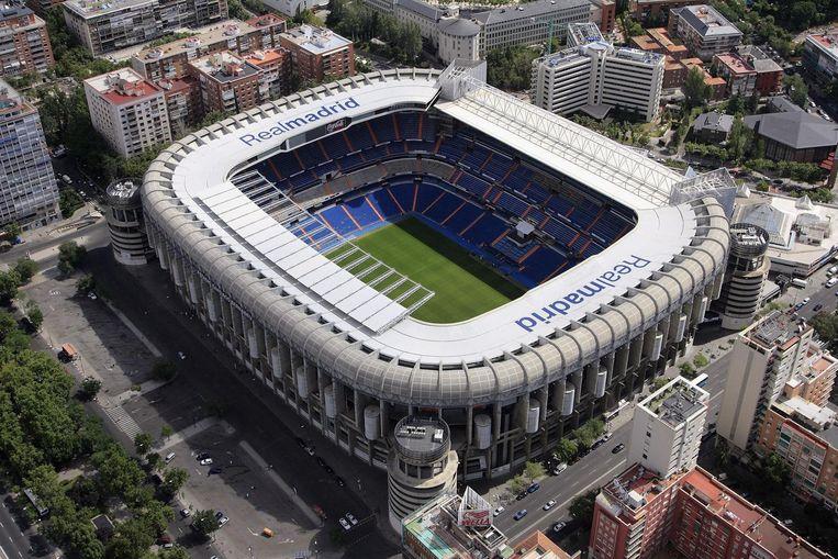 Het Bernabéustadion in de huidige staat. Beeld getty