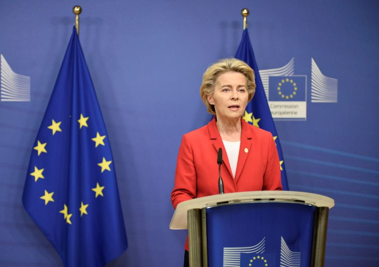 Voorzitter van de Europese Commissie Ursula von der Leyen. Beeld REUTERS