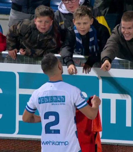 Deze PEC-fan ruilde zaterdag het shirtje met Bram van Polen: 'Dit maakte een slechte wedstrijd legendarisch'