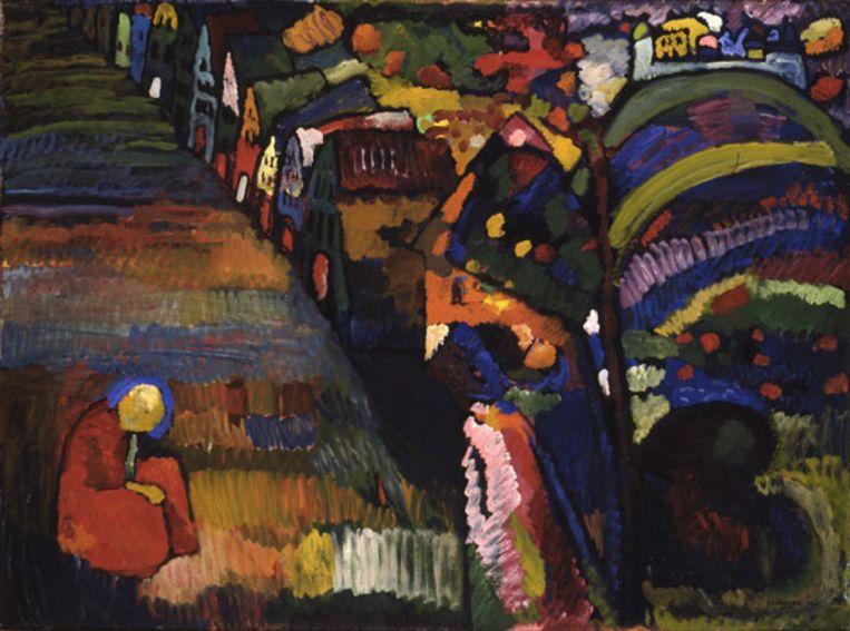Wassily Kandinsky, Bild mit Häusern. Beeld Stedelijk Museum