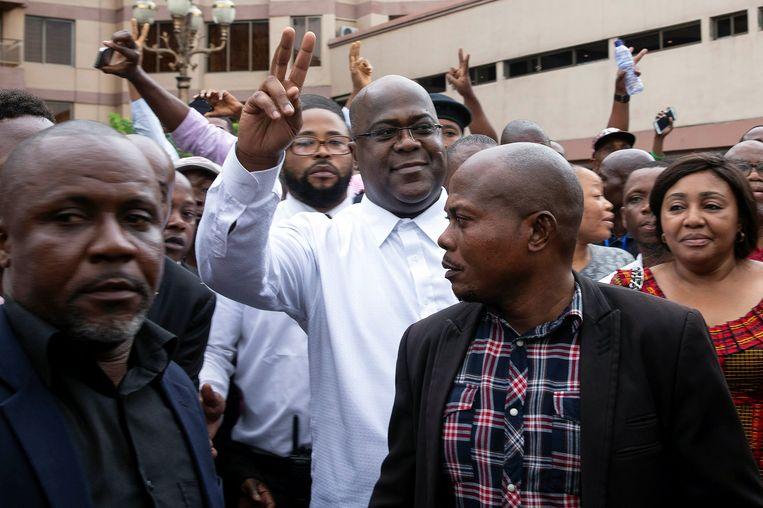 De winnaar van de verkiezingen in Congo, oppositieleider Félix Tshisekedi. Beeld REUTERS