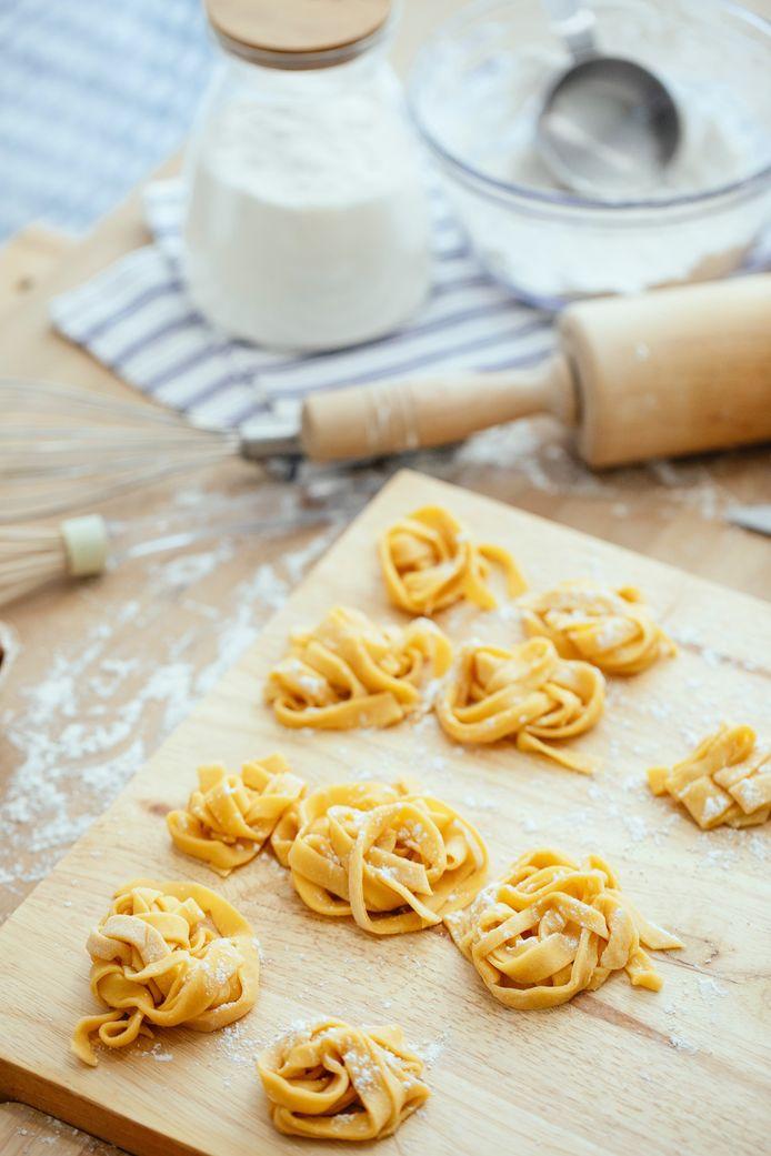Versgemaakte pasta.