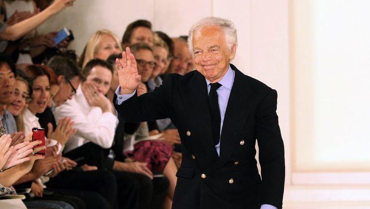 Ralph Lauren bij de Fashion Week in New York eerder deze maand Beeld null