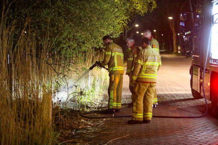 De brandweer doofde het vuur snel.
