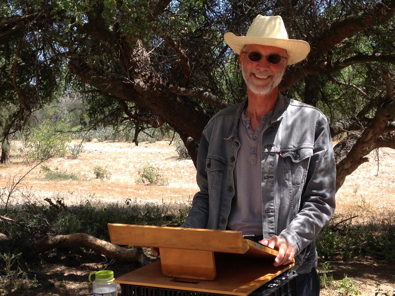 John Luther Adams in de Sonorawoestijn.     Beeld